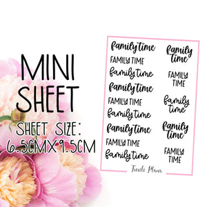 Mini sheet: family time