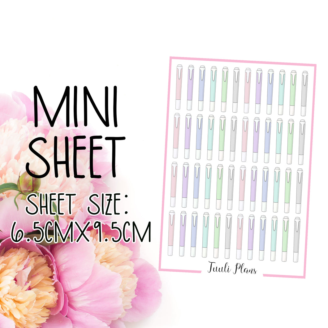 Mini sheet: highlighter