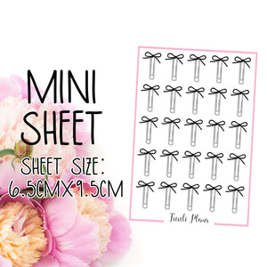 Mini sheet: ribbon bow clip