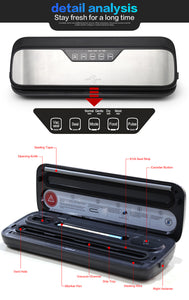 Food Vacuum Sealer A Stainless Steel Home Packing Machine - cultuto