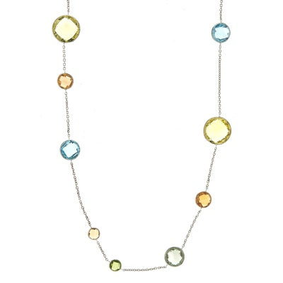 Multi-Colored Stone Necklace