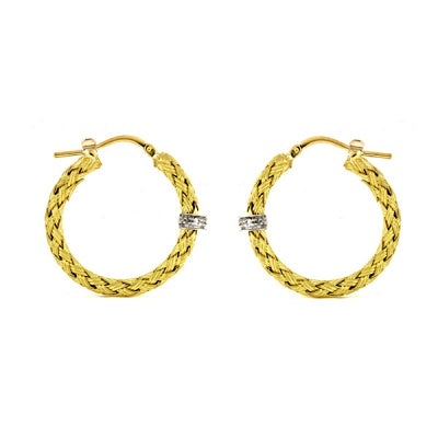 Gold Braided Hoop Earrings