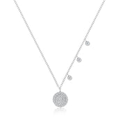 Meira T Signature Diamond Disc Necklace