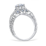 Florin Leaf Engagement Ring