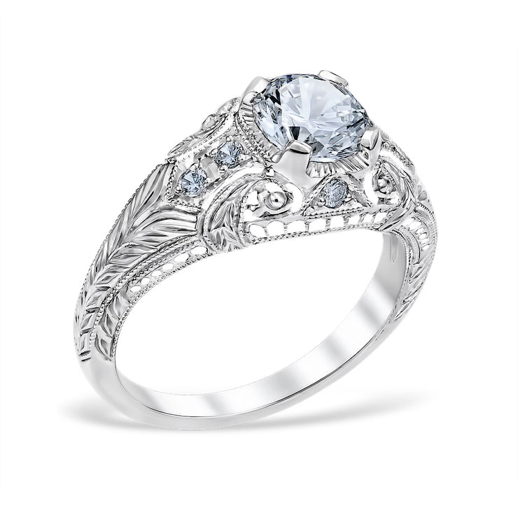 Romanesque Arcade Engagement Ring