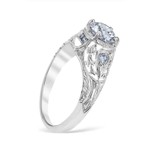 Wreathed Pear Engagement Ring