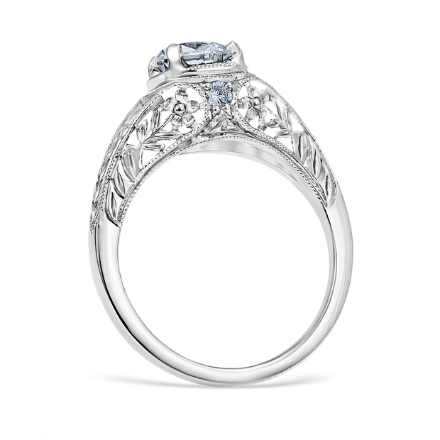 Floral Burst Engagement Ring