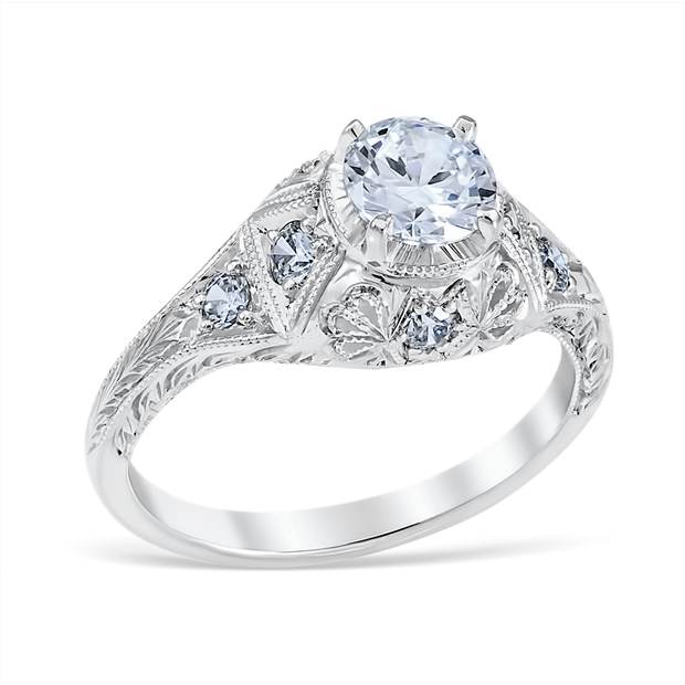 Isabella Vintage Style Engagement Ring