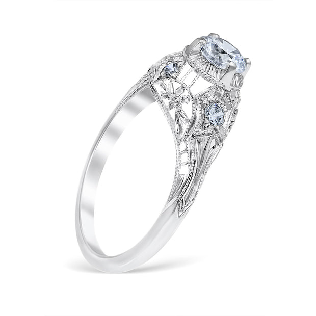Luana Vintage Style Engagement Ring