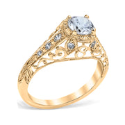 Monica Vintage Style Engagement Ring