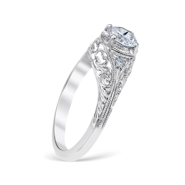 Flora Vintage Style Engagement Ring