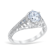 Heart of the Vineyard Vintage Style Engagement Ring