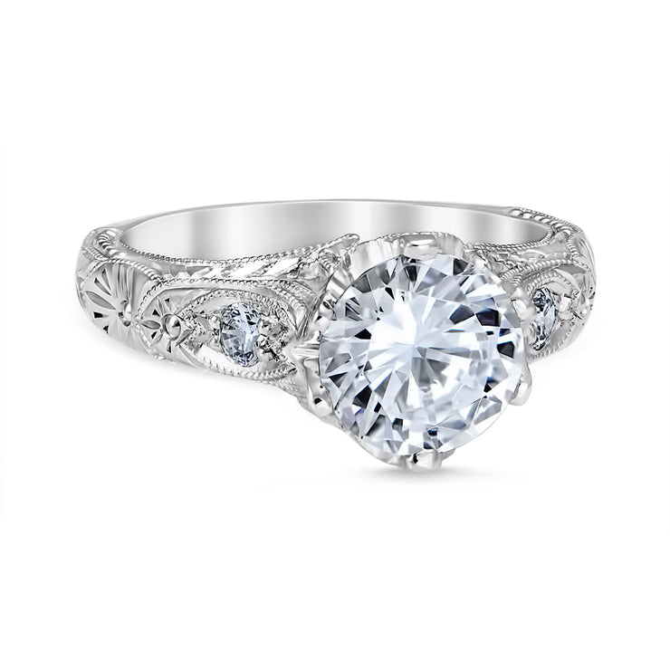 Venetian Crown Engagement Ring