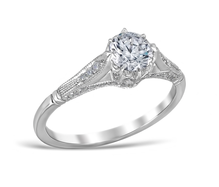 Lucilla Vintage Style Engagement Ring