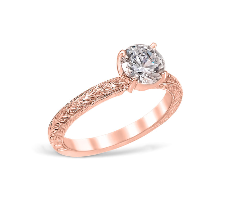 Sarah Solitaire Vintage Style Engagement Ring