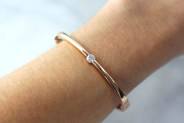 Single Diamond Bangle (Multiple Colors)