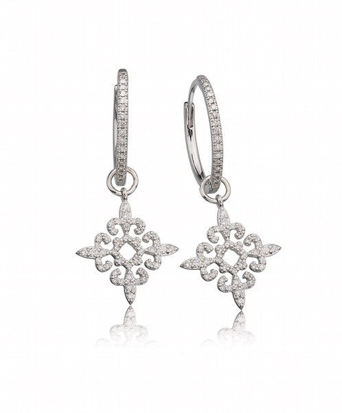 Lisa Nik 4 Way Fleur de Lis Detachable Drops