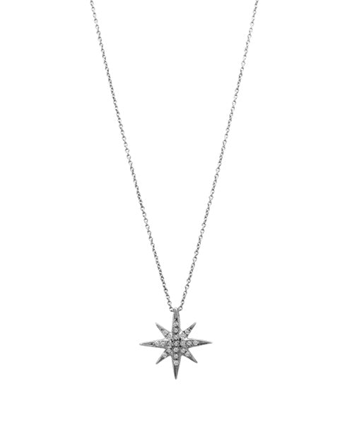 Lisa Nik White Gold North Star Diamond Necklace