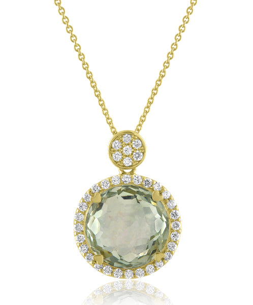 Lisa Nik 11mm Round Necklace with Diamonds (Multiple Colors!)
