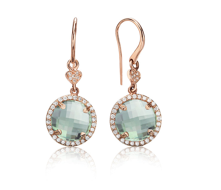 Lisa Nik 11mm Round Earrings with Diamonds (Multiple Colors!)