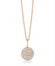 Lisa Nik Pave Diamond Disc Pendant (Multiple Colors!)