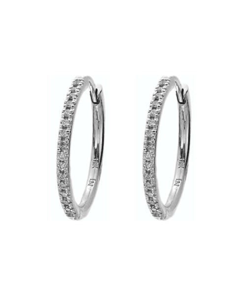 Lisa Nik 18k Gold Diamond Hoop Earrings