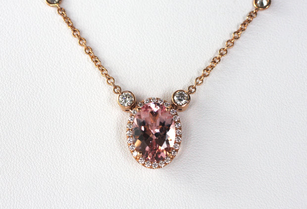 Morganite Rose Gold Necklace