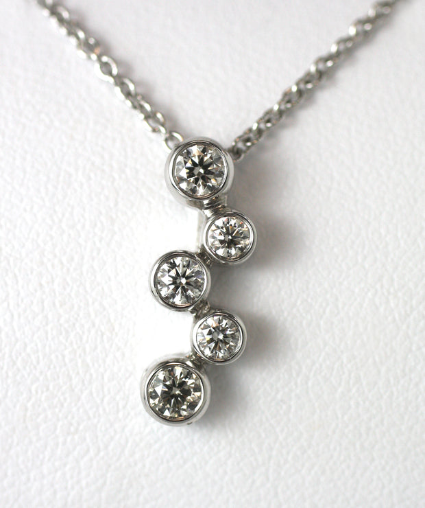 5 Diamond Drop Pendant