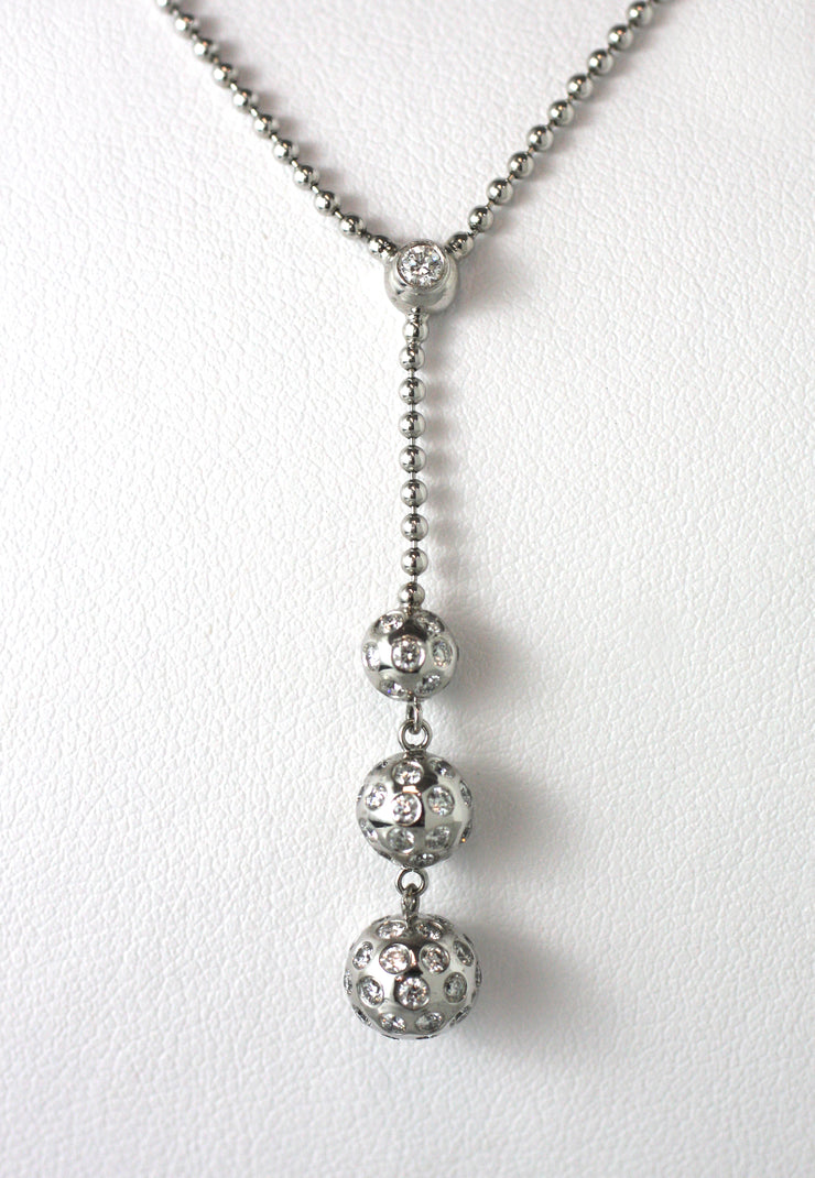 Triple Drop Diamond Necklace