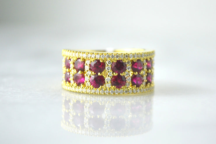 Ruby and Pave Band