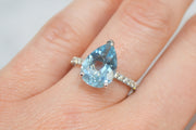 Pear-Shaped Aquamarine Ring