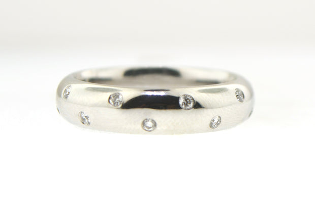 White Gold & Diamond Polka Dot Band