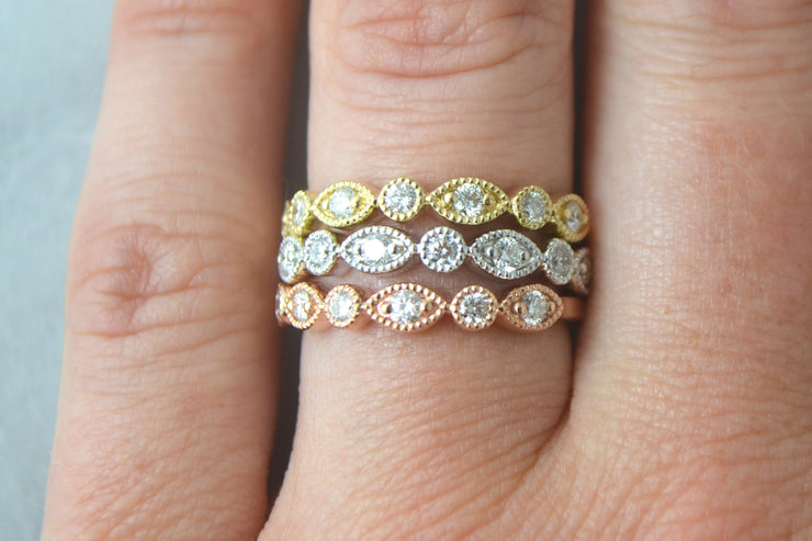 Elegant Diamond Stackables