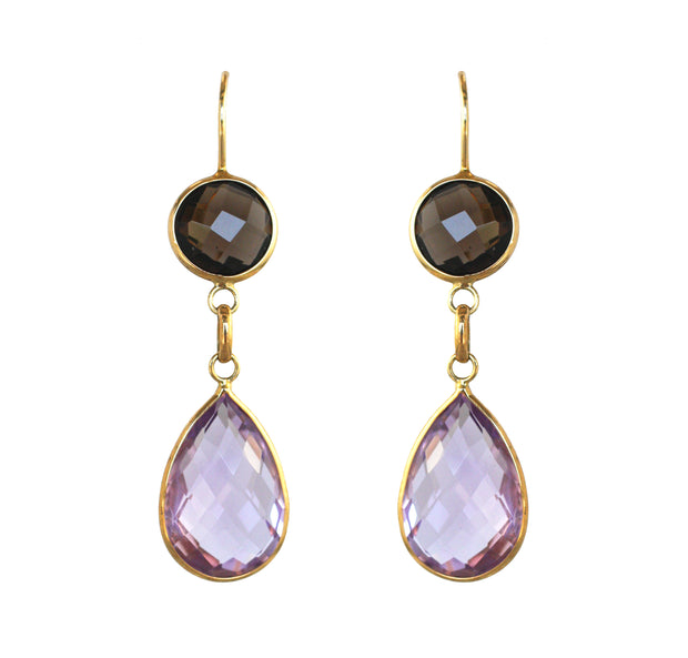 Herco Colored 2-Stone Earrings