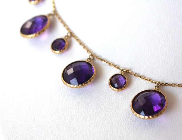Herco Amethyst Multi Stone Necklace