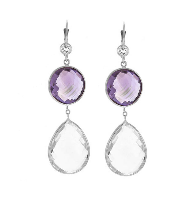 Herco Crystal & Pink Amethyst Earrings (Multiple Metals!)