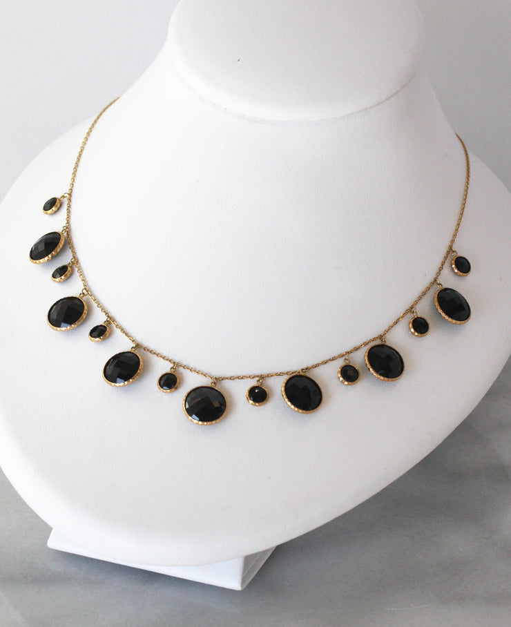 Herco Black Onyx Multi Stone Necklace