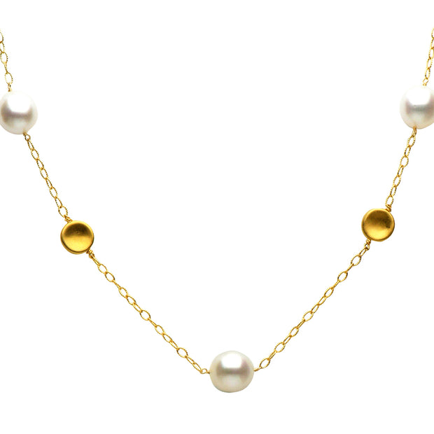 DSL Yellow Gold South Sea Pearl Necklace