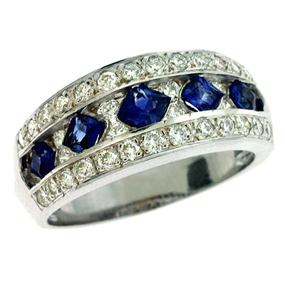 Sapphire and Diamond Band C3641-SWG