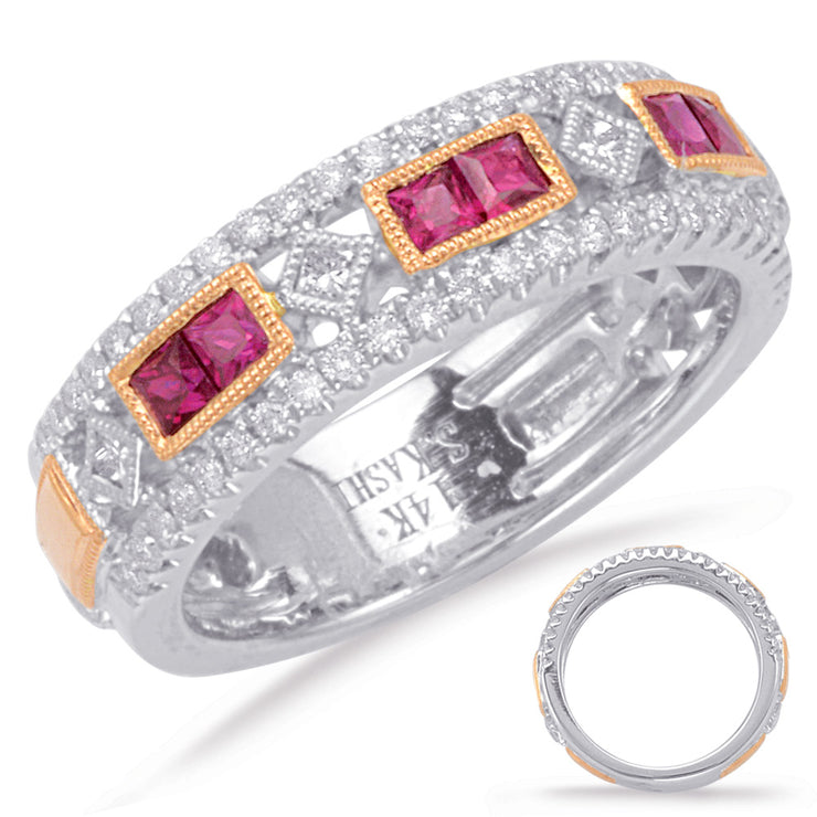 Ruby & Diamond Wedding Band 5813-RRW