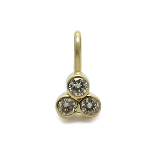 Diamond 3 Stone Pendant 18 Karat Gold
