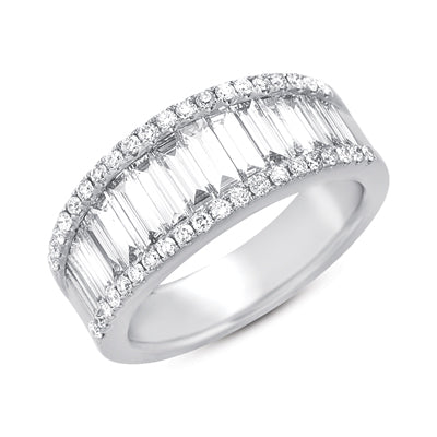 White Gold Diamond Band D4072-WG