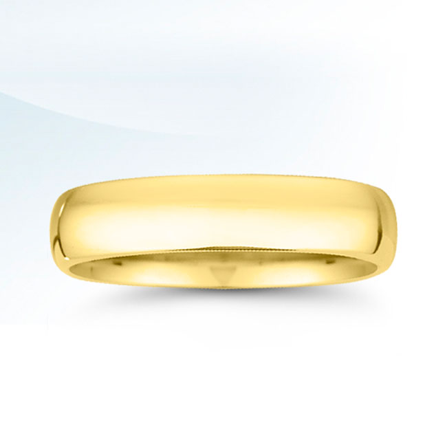 Men's 5mm Yellow Gold Wedding Band
