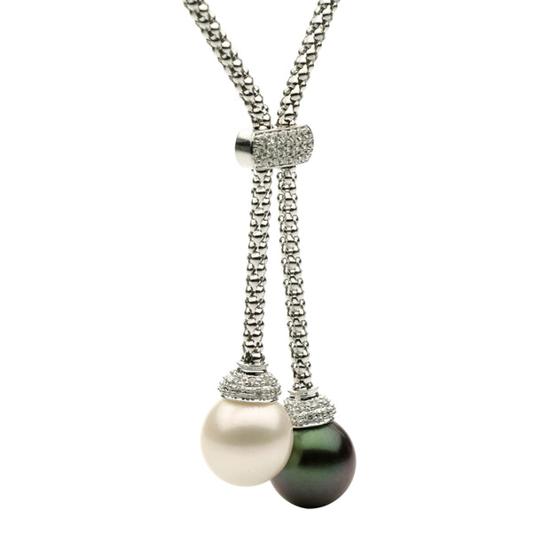 DSL South Sea & Tahitian Pearl Lariat Necklace