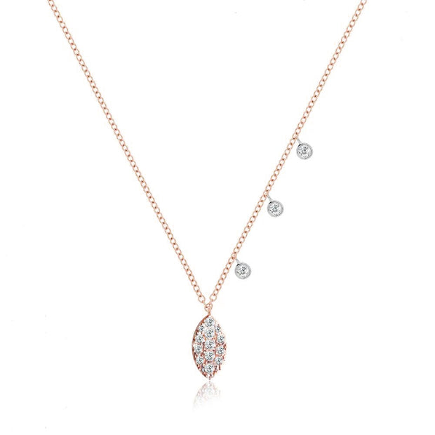Meira T Marquise Encrusted Diamond Necklace