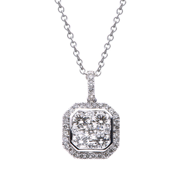 DSL White Gold Diamond Pendant