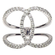 DSL Diamond Criss Cross Ring