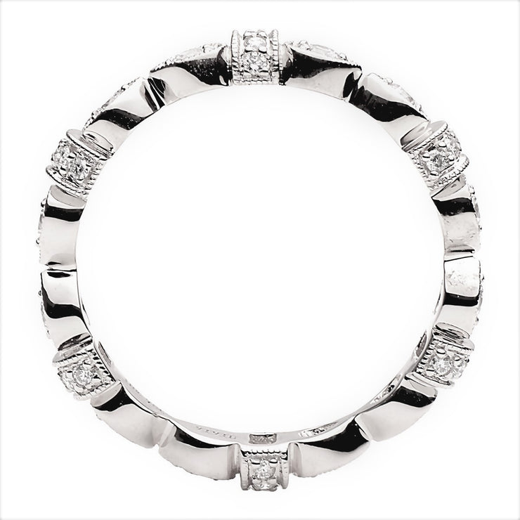DSL 18k White Gold Diamond Band