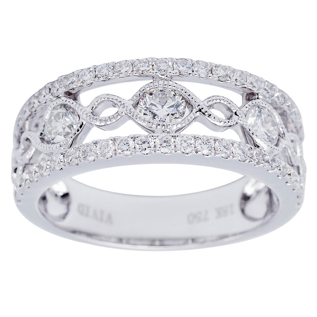 DSL Diamond & White Gold Band