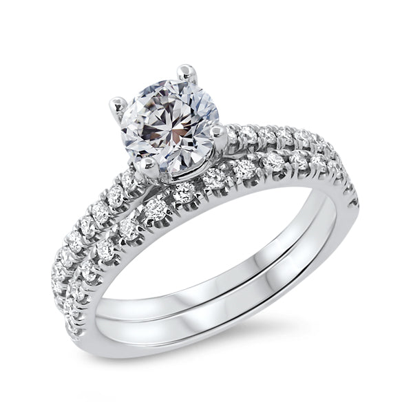 Solitaire Diamond with Diamond Double Shank